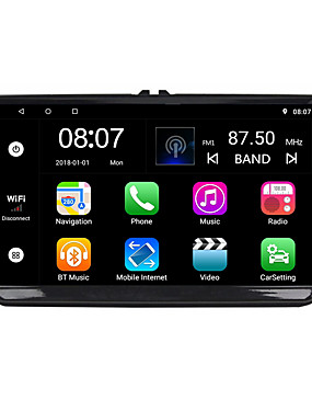 preiswerte Automobil-Factory OEM YYD-9010G 9 Zoll 2 Din Android 8.1 In-Schlag DVD-Player Quad Core für Volkswagen RCA / Audio / GPS Unterstützung MOV / M3V / AMV MP3 / WMA / WAV JPEG / GIF / BMP