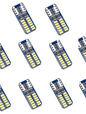 preiswerte Automobil-10 Stück T10 Auto Leuchtbirnen 2 W SMD 3014 100 lm 24 LED Kennzeichenbeleuchtung / Rücklicht / Innenbeleuchtung Für Universal Alle Jahre