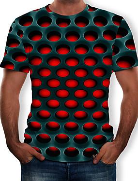 preiswerte Schönen Muttertag-Herrn Geometrisch / 3D - Street Schick / Übertrieben T-shirt, Rundhalsausschnitt Druck Purpur