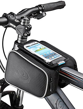 cheap Sports & Outdoors-ROSWHEEL Cell Phone Bag Bike Frame Bag Top Tube 5.5 inch Touch Screen Cycling for Samsung Galaxy S4 Iphone 5/5S iPhone 8/7/6S/6 Black Cycling / Bike / iPhone X / iPhone XR / iPhone XS / iPhone XS Max