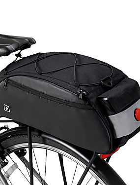 cheap Sports & Outdoors-ROSWHEEL 10 L Bike Saddle Bag Bike Panniers Bag Bike Rack Bag Multifunctional Large Capacity Waterproof Bike Bag 600D Nylon Bicycle Bag Cycle Bag MTB / Road Bike / Sports Mountain Bike / MTB Road