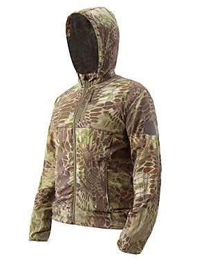 cheap Sports & Outdoors-Esdy Men's Hiking Skin Jacket Hiking Jacket Winter Outdoor Camo Windproof Sunscreen Ultra thin Jacket Hoodie Top Single Slider Fishing Climbing Camping / Hiking / Caving Black / Army Green