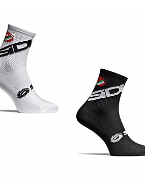 cheap Sports & Outdoors-Men's Women's Athletic Sports Socks Cycling Socks Compression Socks Windproof Breathable Quick Dry Black White Winter Road Bike Mountain Bike MTB Running Stretchy / Road Bike Cycling