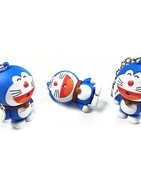 preiswerte Juguetes novedosos-neuheit spielzeug cartoon anime figuren led schlüsselanhänger doraemon spielzeug beleuchtung sounds kreative geschenke nacht led schlüsselzubehör
