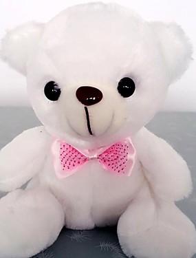 preiswerte Juguetes novedosos-Neuheit niedlichen Bären Puppe LED Beleuchtung Kinder Weihnachtsgeschenk neue bunte LED-Blitzlicht Plüsch Licht Spielzeug Geschenk