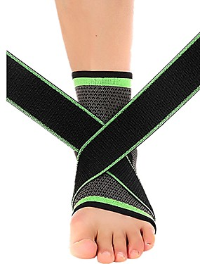 cheap Sports & Outdoors-Ankle Sleeve for Running Fitness Non Slip Elasticity Nylon 1 Piece Daily Wear Athleisure Green