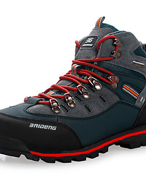 cheap Sports & Outdoors-Men's Hiking Shoes Hiking Boots Waterproof Breathable Shock Absorption Non-Skid High-Top Non-slip Steel Buckle Outsole Pattern Design Hunting Fishing Hiking Autumn / Fall Winter Black / Yellow