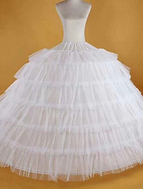 cheap Toys & Hobbies-Bride Classic Lolita 1950s Dress Petticoat Hoop Skirt Crinoline Women's Girls' Spandex Costume White Vintage Cosplay Party Performance Maxi Princess