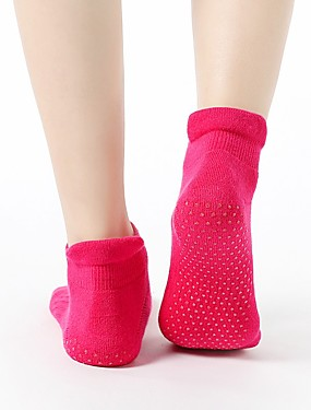 cheap Sports & Outdoors-Women's Athletic Sports Socks Yoga Socks Socks Grip Socks Non Slip Yoga Pilates Barre 1 Pair Sports Winter Cotton / nylon with a hint of stretch Black Violet Orange / Stretchy