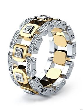 povoljno Muški nakit-Muškarci Žene Prsten 1pc Zlato Srebrni prsten 1 Zlatni prsten 1 Imitacija dijamanta Legura Europska Dnevno Jewelry Oštrica noža