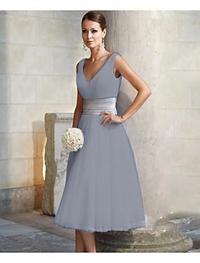 levne Party noc-dámské midi linie šaty v krku červenající růžové bílé stříbro m x x xxl