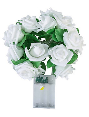 billige Originale lamper-nyhet 20 led rose rose blomst snø fe lysene bryllup hjem bursdag valentins dag event fest krans dekor luminaria
