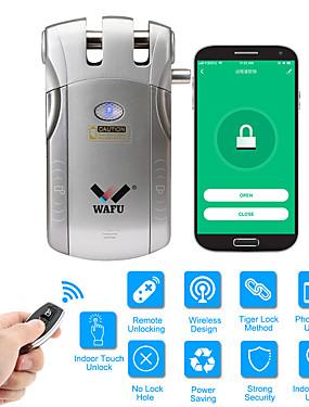 preiswerte Tuya App-wafu wifi fernbedienung smart unsichtbare sicherheit türschloss app (ios / android-system) diebstahlsicherung türschloss für home hotel büro wohnung mit 433 mhz (wf-010 w)