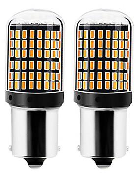 billige Reversering lys-2pcs 1156 / 7440 Bil Elpærer 22 W SMD 3014 144 LED Blinklys / Reversering (backup) lys Til Universell Alle år
