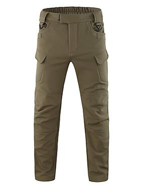 cheap Sports & Outdoors-Men's Hiking Pants Softshell Pants Hiking Cargo Pants Camo Summer Winter Outdoor Windproof Fleece Lining Warm Quick Dry Pants / Trousers Fishing Climbing Camping / Hiking / Caving Black Army Green