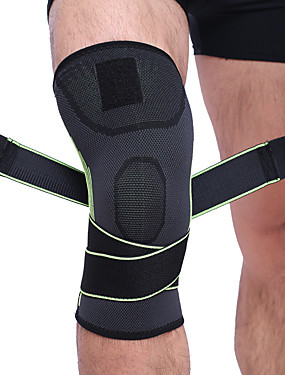 cheap Sports & Outdoors-Knee Brace Knee Sleeve for Running Basketball Football / Soccer Shockproof Elastic Protection Nylon Toyokalon Hair Emulsion 1 pc Sports Outdoor Athletic Orange Green