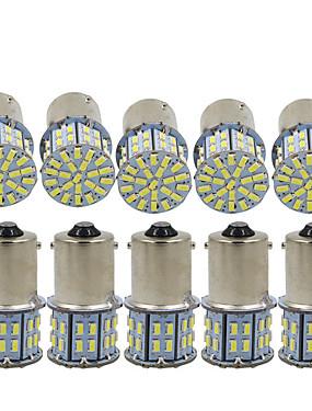 billige Reversering lys-10pcs 1156 Bil Elpærer 3 W SMD 3014 600 lm 50 LED Blinklys / Bremselys / Reversering (backup) lys Til Universell Alle år