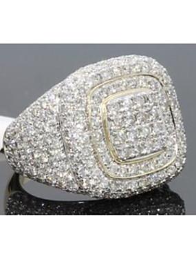 povoljno Muški nakit-Muškarci Prsten Kubični Zirconia 1pc Zlato Kamen Kvadrat Stilski Iced Out Party Dnevno Jewelry Klasičan Radost Cool