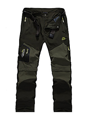 cheap Sports & Outdoors-Men's Hiking Pants Convertible Pants / Zip Off Pants Summer Outdoor Breathable Quick Dry Sweat-wicking Comfortable Pants / Trousers Bottoms Camping / Hiking Hunting Fishing Black Army Green Khaki S M