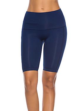 cheap Sports & Outdoors-Women's High Waist Yoga Pants Yoga Shorts Shorts Bottoms Butt Lift Moisture Wicking Black Grey Light Grey Running Dance Fitness Sports Activewear High Elasticity Skinny