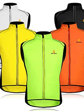 cheap Sports & Outdoors-WOSAWE Men's Sleeveless Cycling Vest Mesh Black / Yellow White Black Patchwork Bike Vest / Gilet Windproof Breathable Reflective Strips Back Pocket Sports Patchwork Mountain Bike MTB Road Bike Cycling