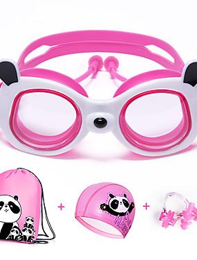 cheap Sports & Outdoors-Swimming Goggles Windproof Anti-Fog Swimming UV Protection Mirrored Plated For Kid's Silicone Rubber PC Yellows Pink Blues