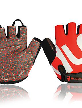 cheap Sports & Outdoors-BAT FOX Winter Bike Gloves / Cycling Gloves Lightweight Breathable Ultraviolet Resistant Moisture Permeability Boys' Girls' Fingerless Gloves Handlebar Mitts Sports Gloves Rose Red Black / Green