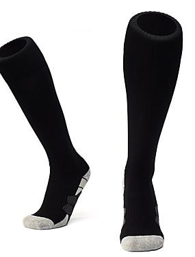 billige Lagsport-Voksne Fotball sokker Sport Sokker Soccer Socks Bomull Herre Sokker Lange sokker Fotball Pustende Komfort Svettereduserende Vinter Sport & Utendørs 1 par / Elastisk