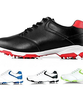 cheap Golf, Badminton & Table Tennis-PGM Men's Golf Shoes Shock Absorption Breathable Cushioning Wearproof Low-Top Golf Spring Summer Fall Red black Black Blue / White Green
