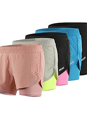 cheap Sports & Outdoors-Arsuxeo Women's Running Shorts Athletic Shorts Bottoms 2 in 1 Mesh Elastic Waistband Elastane Sport Fitness Gym Workout Running Breathable Quick Dry Reflective Strips Black Blush Light Grey Royal