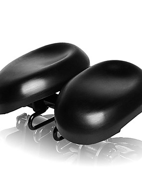 cheap Sports & Outdoors-Acacia Bike Saddle / Bike Seat Ergonomical Dual Pad Adjustable Extra Wide / Extra Large Double Noseless PU Leather High-Density Foam PVC Cycling Road Bike Mountain Bike MTB Black