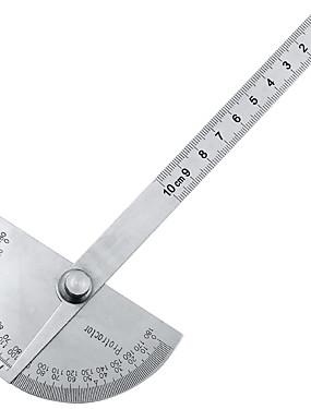 preiswerte Werkzeug & Ausrüstung-180 Grad einstellbare Winkelmesser Multifunktions Edelstahl Rundkopf Winkel Lineal Mathematik Messwerkzeug