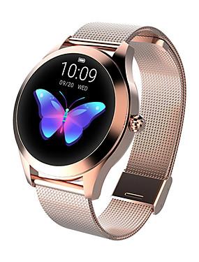 preiswerte Intelligente Elektronik-kw10 Smart Watch BT Fitness Tracker Unterstützung benachrichtigen / Pulsmesser Sport Edelstahl Bluetooth Smartwatch kompatiblen ios / Android-Handys