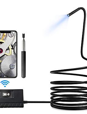 preiswerte Elektronik & Werkzeuge-5.5mm 1080phd wifi Inspektionskamera 5m Länge wifi Endoskop mit 6 geführten Lichtern imprägniern Endoskop für androides ios iphone huawei