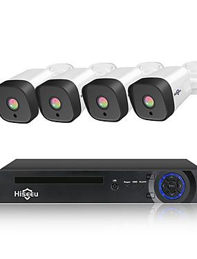 preiswerte Hiseeu-hiseeu 8ch 1080p poe nvr cctv sicherheitssystem 4 stücke 2.0mp audio record ip kamera ir p2p outdoor videoüberwachung kit 1 tb hdd