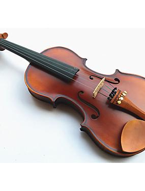 preiswerte Violinen-4/4 natürliche Farblichttigerstreifen Violine Kolophonium + + Bogen + Schaum-Boxen