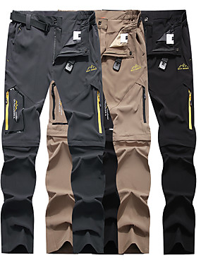 cheap Sports & Outdoors-Men's Hiking Pants Convertible Pants / Zip Off Pants Summer Outdoor Waterproof Breathable Quick Dry Stretchy Elastane Pants / Trousers Bottoms Running Hunting Fishing Dark Grey Black Khaki M L XL XXL