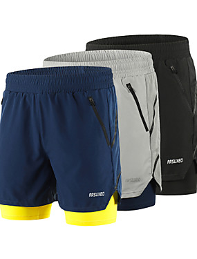 cheap Sports & Outdoors-Arsuxeo Men's Running Shorts 2 in 1 Running Shorts With Tights Athletic Shorts Bottoms 2 in 1 Liner Split Spandex Sport Gym Workout Running Active Training Breathable Quick Dry Reflective Strips