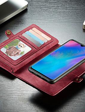 رخيصةأون Huawei أغطية / كفرات-caseme حالة متعددة الوظائف محفظة الهاتف حالة انفصال 2 في 1 فليب فتحة بطاقة الغلاف الصلب مع حامل لهواوي p30 / هواوي p30 الموالية / هواوي p30 لايت