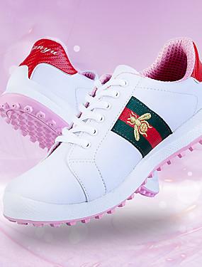 preiswerte Schlägersportarten-Damen Golfschuhe Wasserdicht Atmungsaktiv Rutschfest Komfortabel Golfspiel Herbst Frühling Schwarz