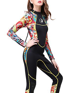 cheap Sports & Outdoors-HISEA® Women's Full Wetsuit 3mm SCR Neoprene Diving Suit Thermal / Warm Waterproof Zipper Long Sleeve Back Zip Solid Colored Spring Winter