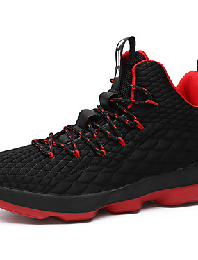 cheap Sports & Outdoors-Men's Comfort Shoes Faux Leather Spring & Summer Sporty / Preppy Athletic Shoes Basketball Shoes Breathable Black / Black / Red / Red / Non-slipping