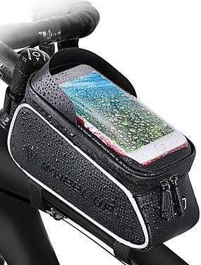 cheap Sports & Outdoors-Wheel up Bike Handlebar Bag 6 inch Waterproof Cycling for Cycling Black Mountain Bike / MTB Road Bike Outdoor Exercise