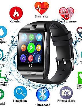 preiswerte Intelligente Elektronik-Männer der intelligenten Uhr q18s stützen tf sim Kartenstoßmitteilungsantwortanruf-Eignungverfolger bluetooth smartwatch für androides Telefon