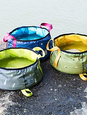 cheap Sports & Outdoors-Naturehike Camping Collapsible Bucket 16 L Single Waterproof Compact Durable for Oxford Outdoor Camping / Hiking Traveling Blue Green / Yellow Gray+Green