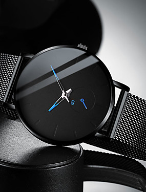 cheap Men's Watches New Arrivals-Men's Dress Watch Quartz Modern Style Stylish Stainless Steel Black / Silver 30 m Water Resistant / Waterproof Casual Watch Cool Analog Casual Fashion - Rose Gold Gold Blue One Year Battery Life