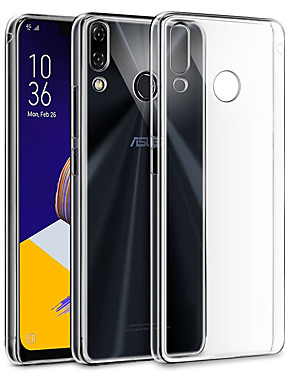 cheap Other Phone Case-Case For Asus Asus Zenfone Max Plus (M1) / ASUS ZenFone Max Pro M1 ZB601KL / ASUS ZenFone Max Pro ZB602KL Transparent Back Cover Solid Colored Soft TPU