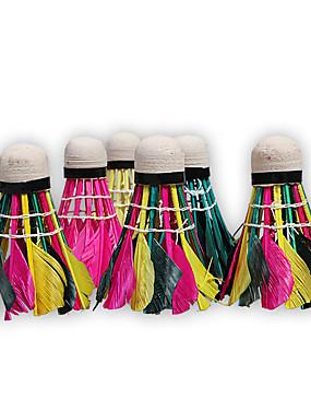 voordelige Racketsporten-Rainbow Badminton Shuttle 10 stuks Duck Feather Ultra Licht(UL) / Stabiliteit Voor Sports & Buitenshuis badminton