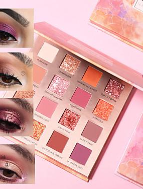 preiswerte Make Up For You®-16 farben neue sonnenaufgang lidschatten palette glitter matt pigment lidschatten lose pulver luxus qualität lidschatten