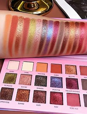 preiswerte Make Up For You®-18 Farben Duochrom Laser polarisiert 18 Farben Lidschatten-Make-up-Palette Hochglanz-Glitzer-Shimmer-Lidschatten-Palette